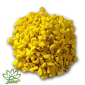 شن رنگی زرد دانه متوسط
