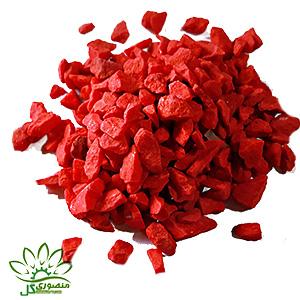 شن رنگی قرمز دانه متوسط