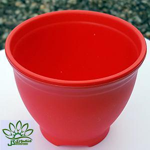گلدان قرمز کوچک سایز ۱۰