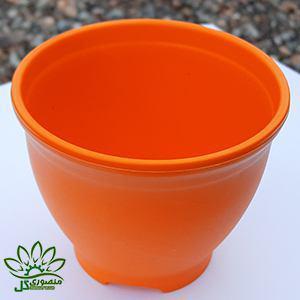 گلدان کوچک نارنجی سایز ۱۰